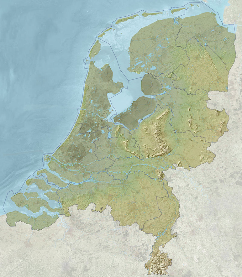 Map Of The Herlands Other Dutch Maps: Netherlands Topographic Map At Infoasik.co