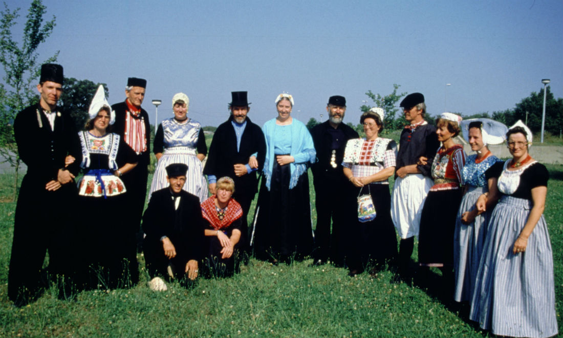 Dutch costumes from different regions of the Netherlands