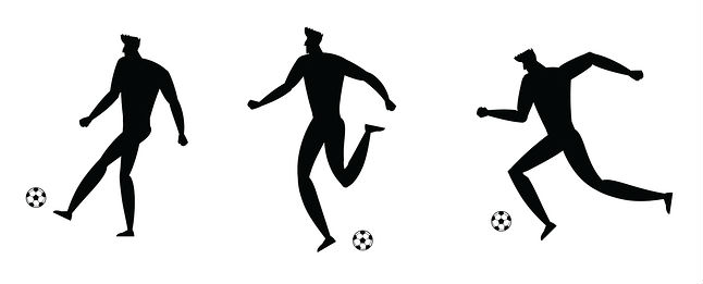 silhouette football players