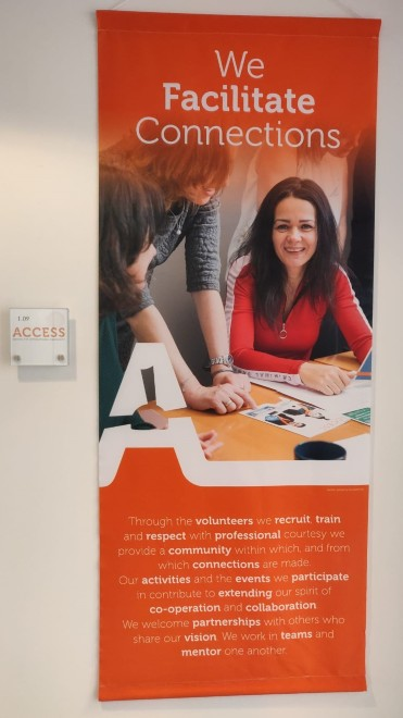 Poster about volunteering with ACCESS in the Netherlands