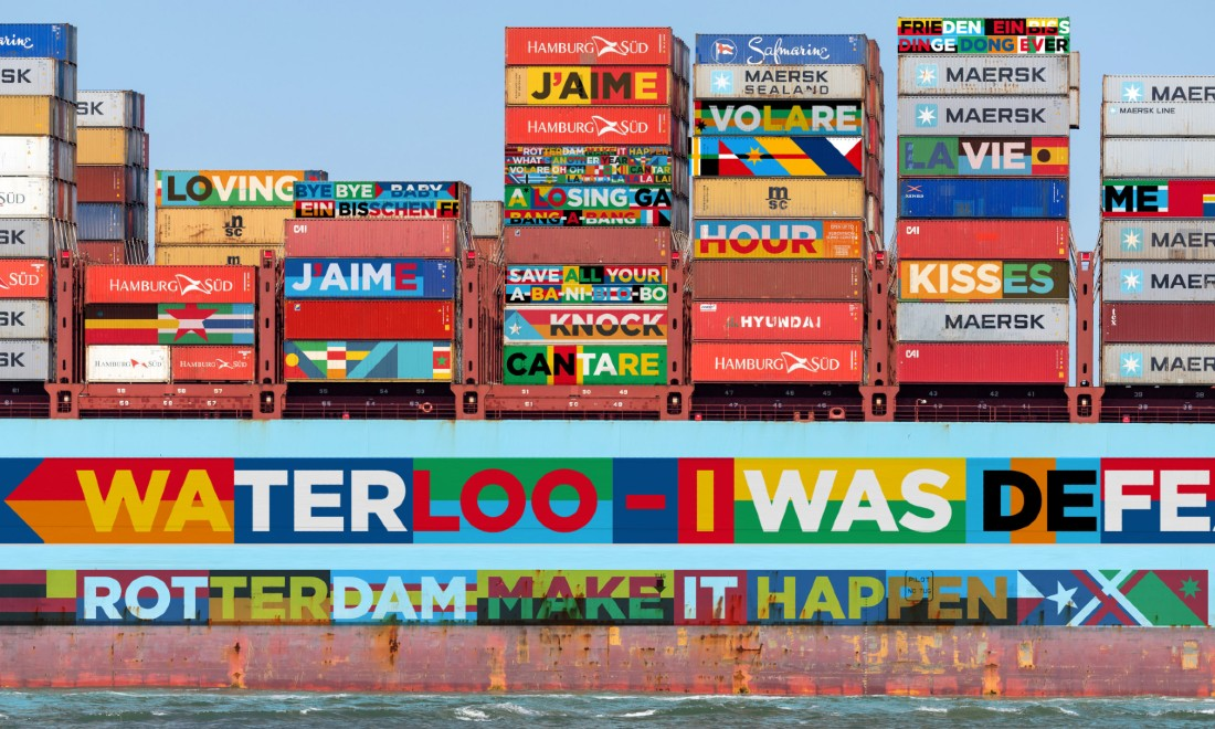 Containers at the Port of Rotterdam Eurovision