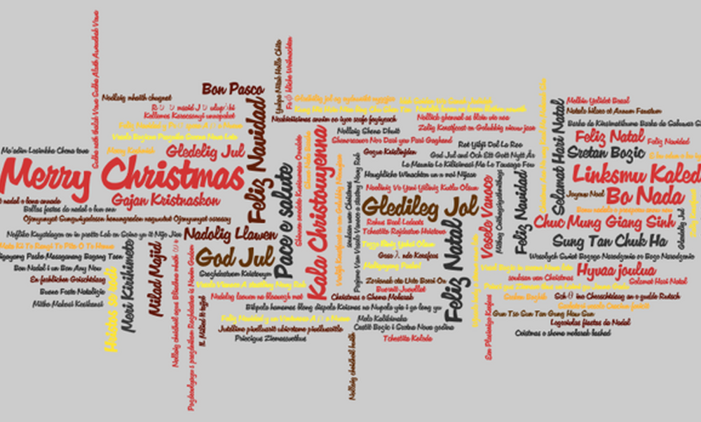 Merry Christmas in 160 Languages!