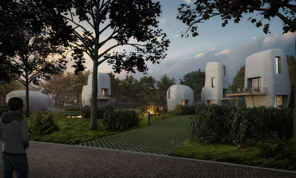World first: 3D printed houses in Eindhoven