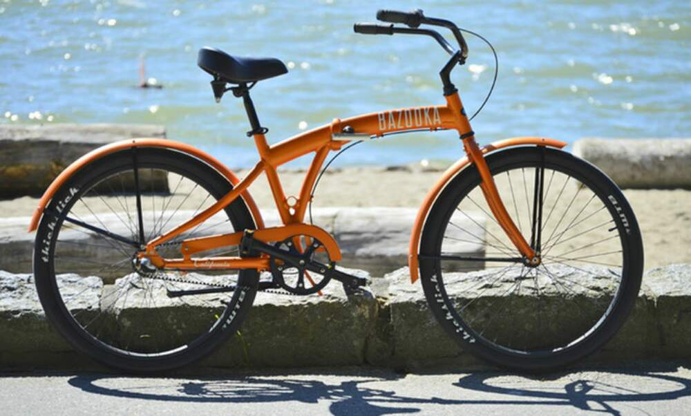 Bazooka California Folding Beach Cruiser - saves space, dirty hands and maintenance costs
