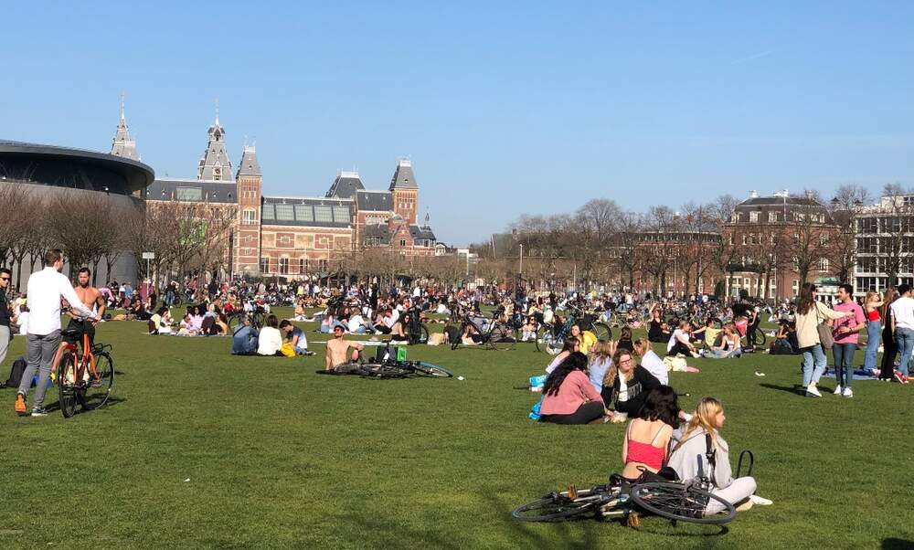 Tuesday marked the Netherlands' first official warm day of 2021