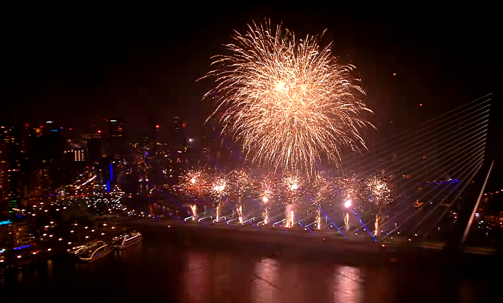 National New Year's Eve Fireworks Rotterdam