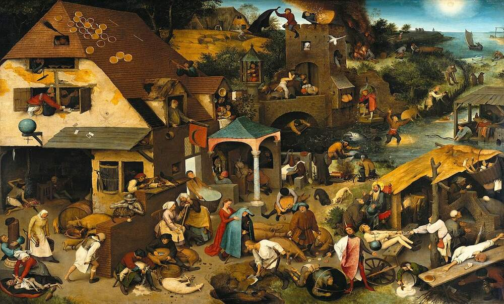 Dutch proverbs, as painted by Pieter Bruegel