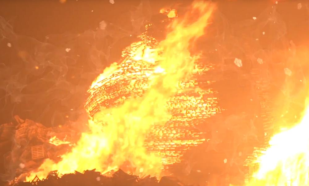 New Year's Bonfire Scheveningen