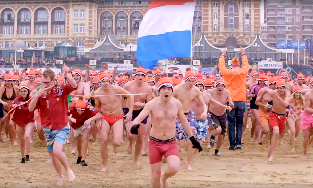 The New Year's Dive: an ice-cold tradition in the Netherlands