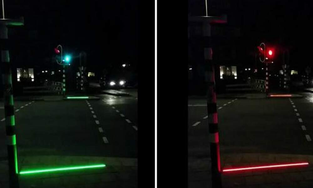 Special traffic lights in Bodegraven to alert smartphone addicts