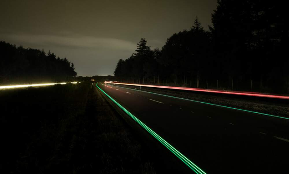 Glow-in-the-dark highway launched in North Brabant