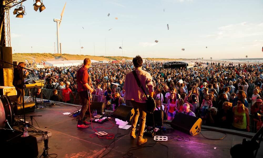 Schollenpop free music festival Scheveningen