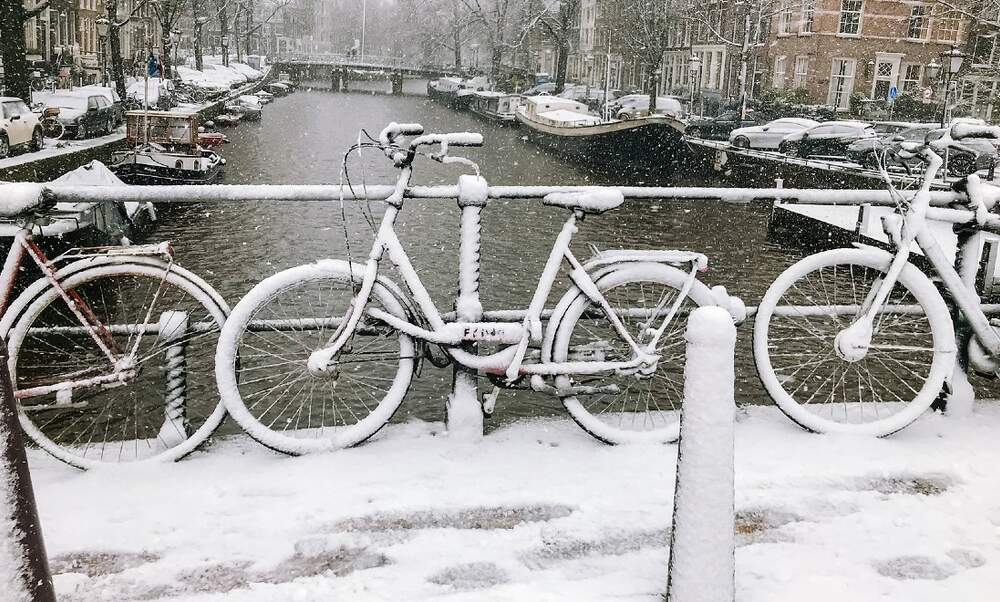 Winter fun and traffic disruptions as Storm Darcy brings snow to the Netherlands