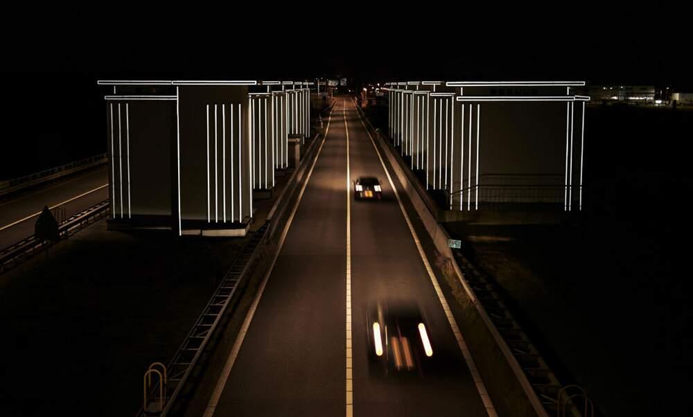 Drive through the Gates of Light at the Dutch Afsluitdijk