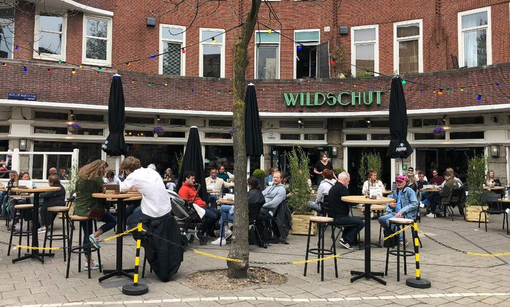 Terraces open for the first time in six months as lockdown is eased