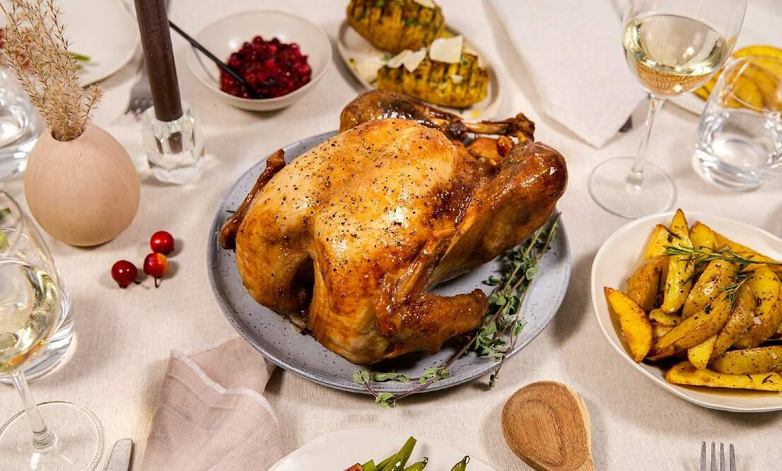 Win a tasty free-range Christmas turkey with a free meat thermometer included!