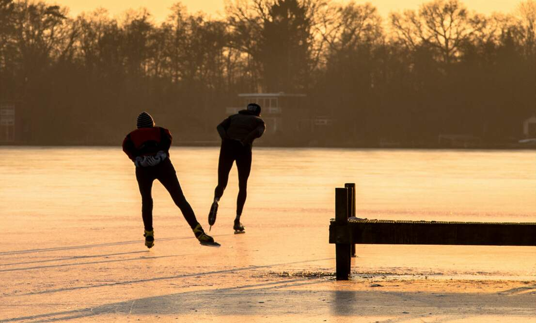 Ice skating is a big deal in the Netherlands