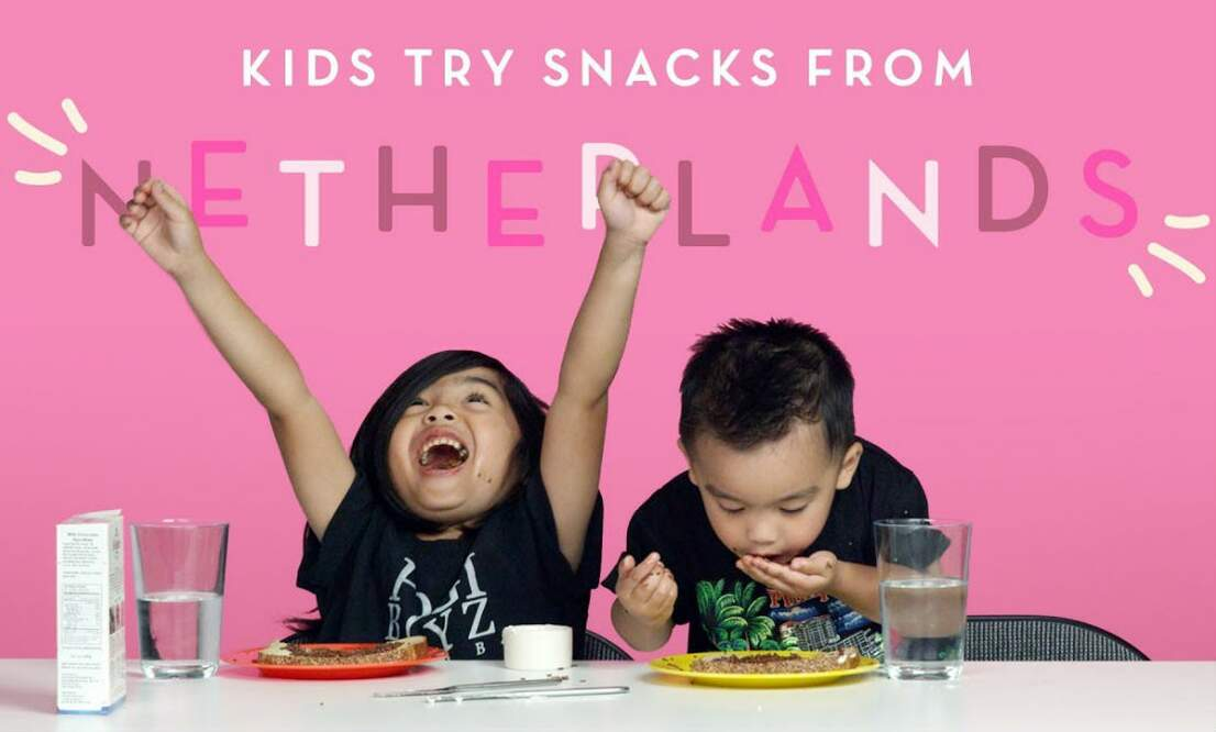[Video] Kids try snacks from the Netherlands