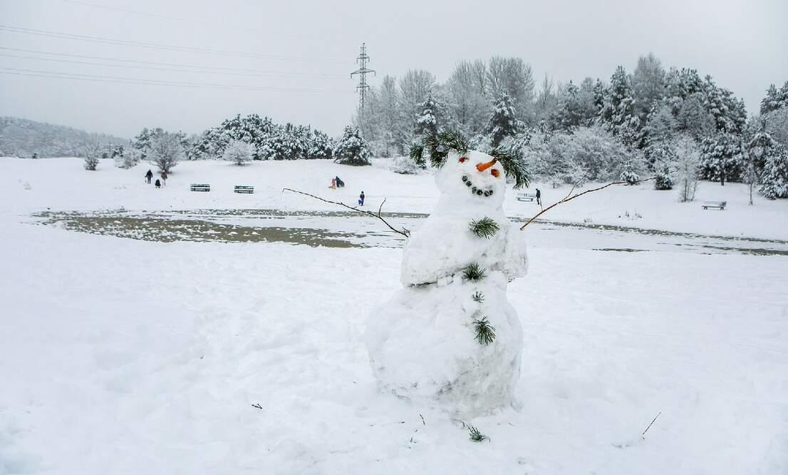 A suspicious snowman: Amsterdam police investigate 'lifeless body'