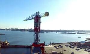 Three Amsterdam towers: a drone's-eye view