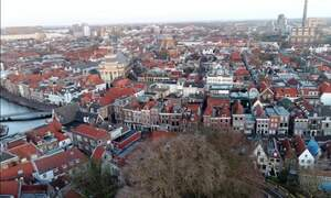 Leiden from a drone