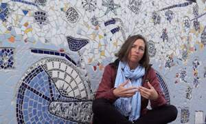 Delft community transform graffitied wall into beautiful mosaic