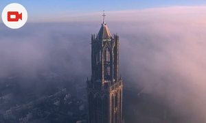Mesmerising drone video captures Utrecht's misty Domtoren