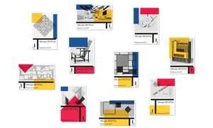 Postage stamps celebrating 100 Years of De Stijl: Mondrian Dutch Design
