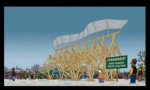 The Hague's Strandbeest features in the Simpsons