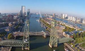 Drone video shows stunning aerial views of Rotterdam