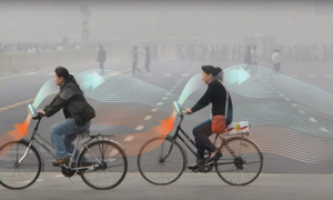 Dutch design filtering city smog gets picked up by Chinese bike sharing app