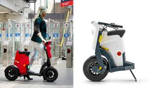 Dutch designers launch world's first foldable electric scooter