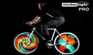 Monkey Light Pro offers your bike wheels neon lights, videos and flashing messages