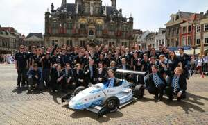 Delft students break world record with their electric car