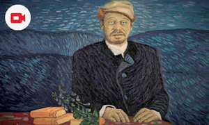 Stop animation film using real paint to portray van Gogh's life