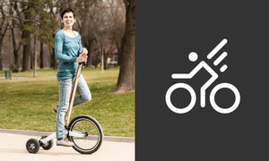 Halfbike: a combination of cycling and running