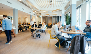 WeWork: a new coworking space in Amsterdam