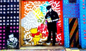 Beautiful street art in Amsterdam