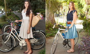 The Bicycle Wrap Skirt: for fashionable, active lifestyles
