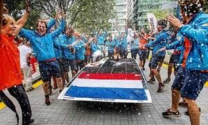 Victory for TU Delft's solar car!