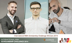 Nyenrode International MBA Scholarship Challenge winners 2014