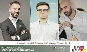 Nyenrode International MBA Scholarship Challenge winners 2014