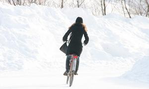 Biking safely during Dutch winter