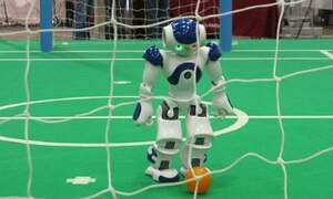 Robots hone their soccer skills in Eindhoven