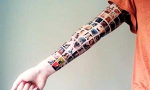 My social tattoo: great guerrilla marketing!