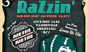 Win one double ticket for RazZin - vintage night out