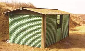 Ultimate Dutch design: the beer bottle house