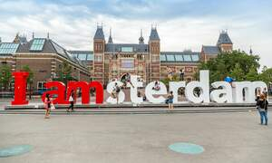 Is this the end of the I amsterdam sign?