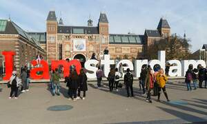 Only a few more days left to see the I amsterdam sign