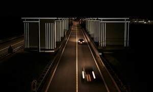 Drive through the Gates of Light at the Dutch Afsluitdijk